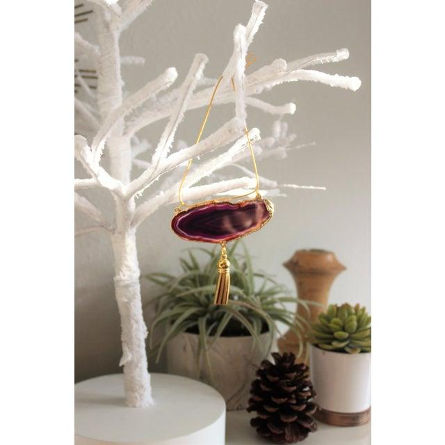 Modern Boho Agate Holiday Ornaments - Set of 6 - Image 6 of 10