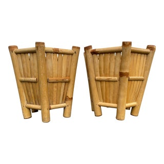 Bamboo Planters - a Pair For Sale