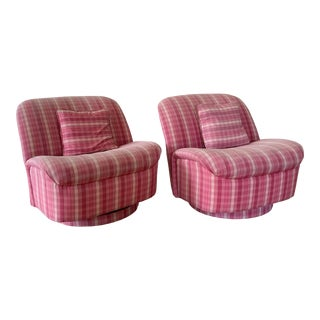 Directional Furniture Clamshell Chair - A Pair For Sale
