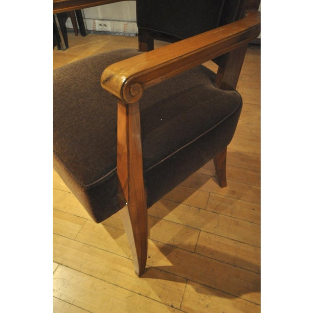 1920s Maxime Old Pair of Refined Solid Walnut Armchairs For Sale - Image 5 of 9