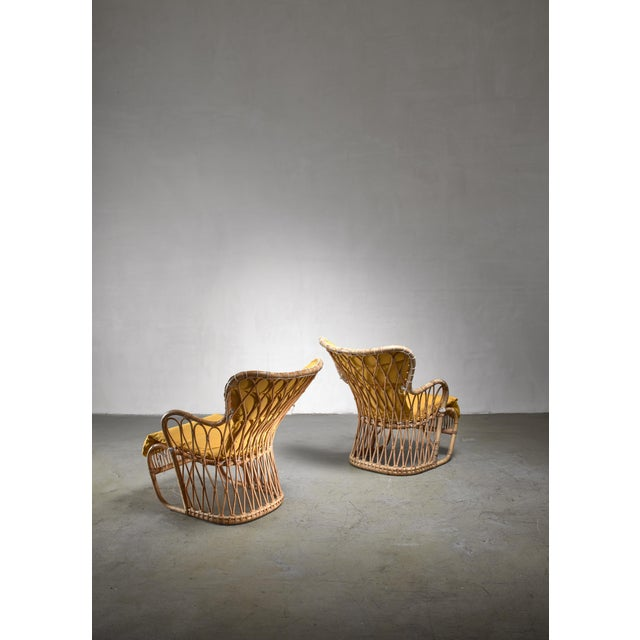 Mid-Century Modern Tove & Edvard Kindt-Larsen Pair of Bamboo Chairs, 1940s For Sale - Image 3 of 5