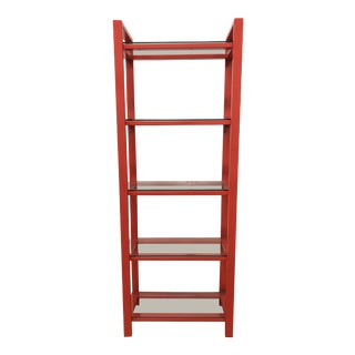 Crate & Barrel Pilsen Paprika Bookcase For Sale