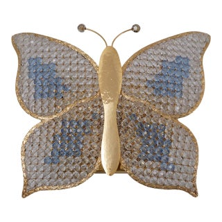 1970s Butterfly Wall Light Sconce For Sale