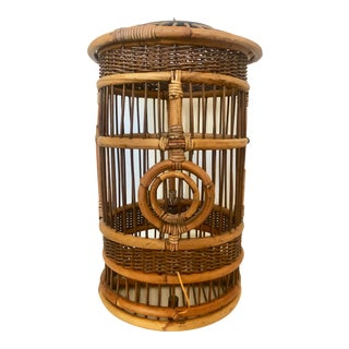 Cylindrical Bamboo Bird Cage For Sale