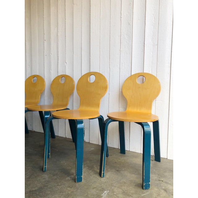 Two Tone Dining Chairs by Thonet- Set of 4 For Sale - Image 10 of 13