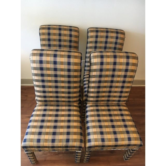 Armless Parsons Style Dining Chairs - Set of 4 - Image 2 of 7