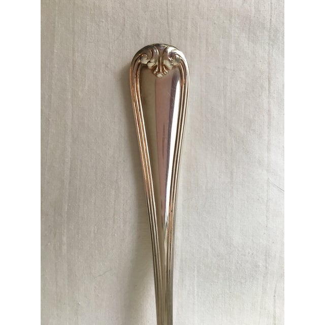 Vintage Gorham Silver Shell-Form Serving Spoon For Sale - Image 3 of 4
