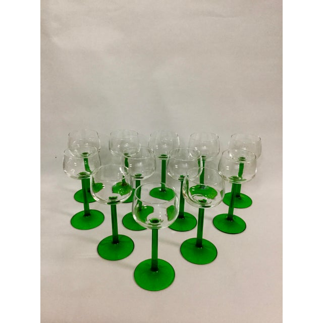 1960s Mid Century Cristal d'Arques Glasses - Set of 12 For Sale - Image 10 of 10