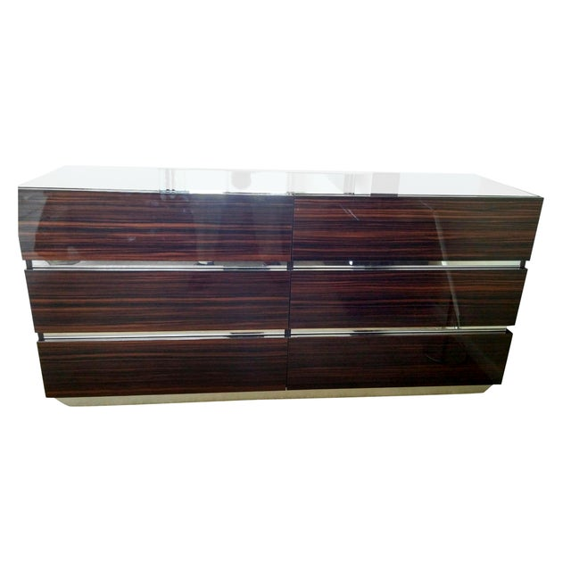 Luxor Italian Modern Ebony Dresser - Image 1 of 4