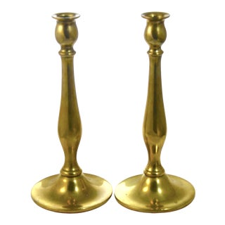 """Solid Brass 10"""" Candlesticks For Sale"""