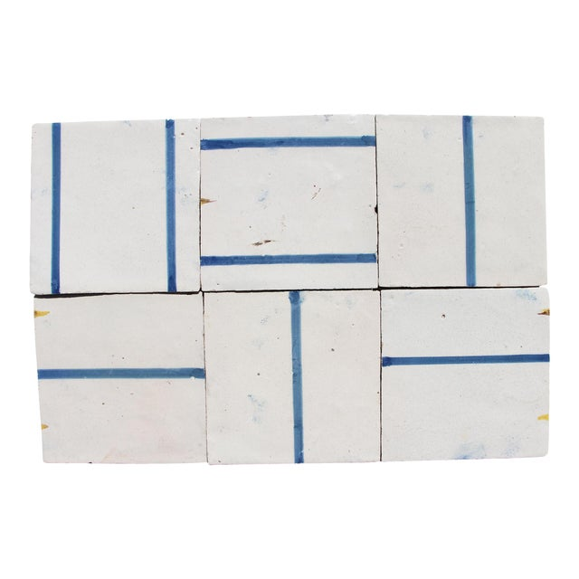 18th Century Minimalist Baroque Tiles - Set of 6 For Sale