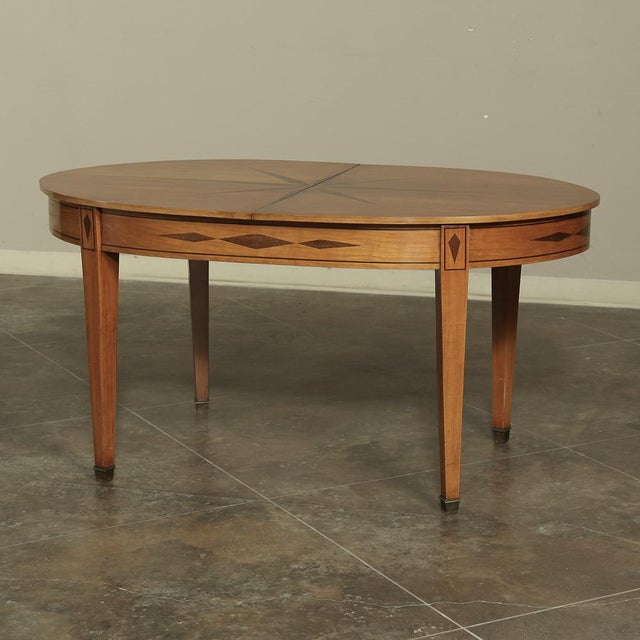 Wood Mid-Century French Directoire Style Inlaid Table For Sale - Image 7 of 13