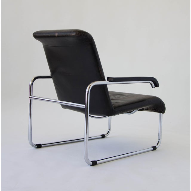 Marcel Breuer for Thonet B35 Leather Lounge Chair - Image 4 of 9