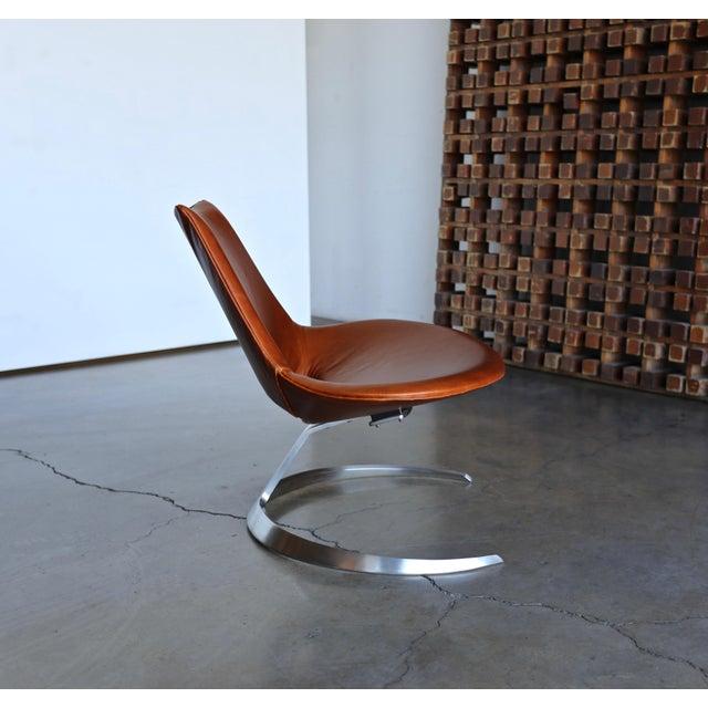 Ivan Schlechter Preben Fabricius & Jørgen Kastholm Scimitar Chairs by Ivan Schlecter Circa 1965 For Sale - Image 4 of 11