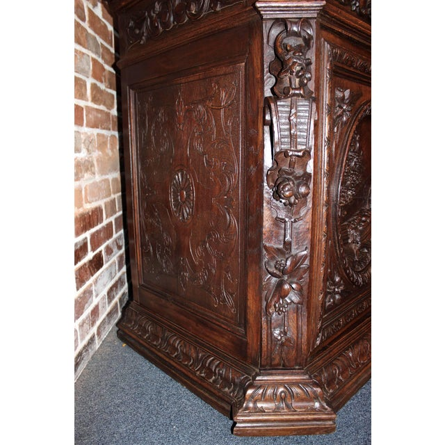 Wood Early 20th Century French Hunt Style Bookcase For Sale - Image 7 of 8