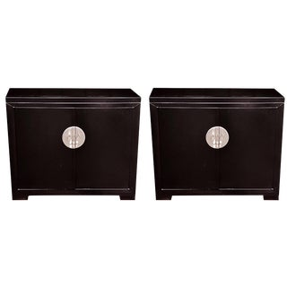 Pair of Michael Taylor for Baker Furniture Lacquered Cabinets For Sale