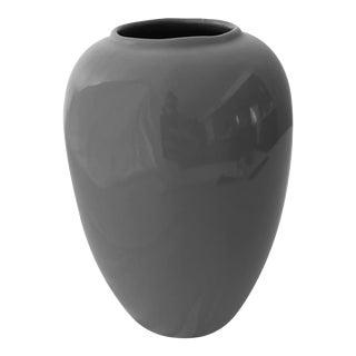 Vintage Grey Ceramic Vase For Sale