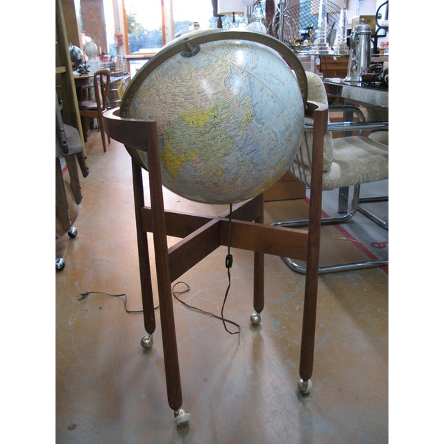 Jens Risom Sculptural Walnut Globe on Casters - Image 10 of 11