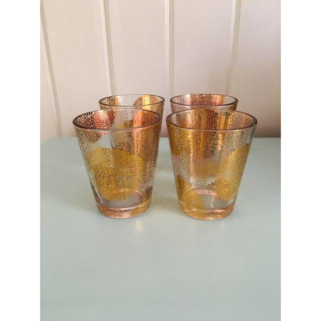 Gold Chrysanthemum Glasses - Set of 4 - Image 2 of 8