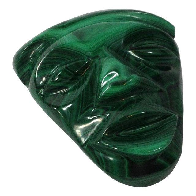 Mid-Century Malachite Head Sculpture - Image 2 of 6