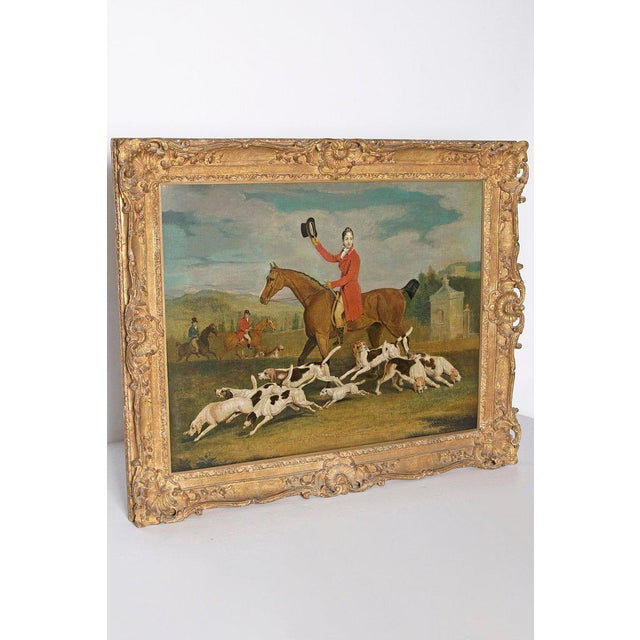 Georgian 19th Century Oil on Canvas English Hunting Scene of Rider on Horse With Hounds For Sale - Image 3 of 13