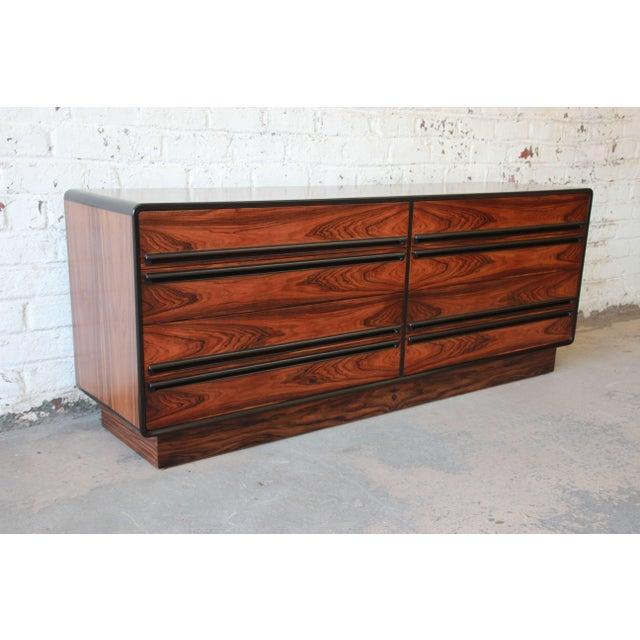 Mid-Century Modern Westnofa Scandinavian Modern Rosewood Long Dresser For Sale - Image 3 of 11