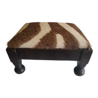 Zebra Skin Footstool For Sale