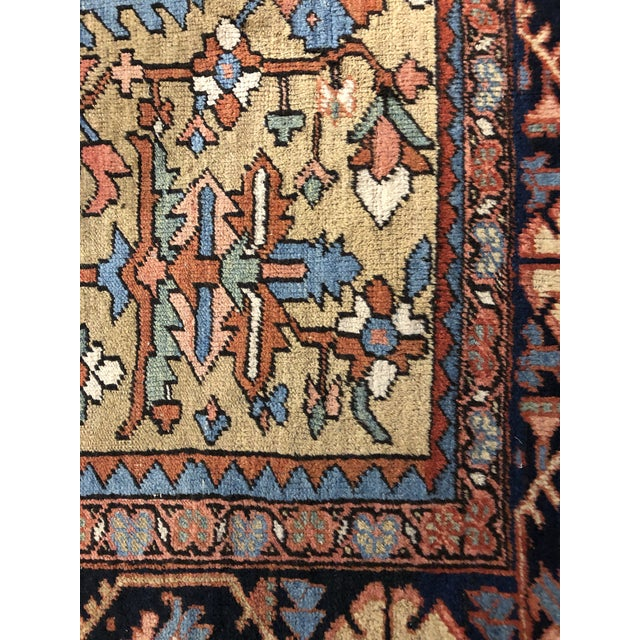 Early 20th Century Colorful Vintage Persian Heriz Rug For Sale - Image 5 of 7
