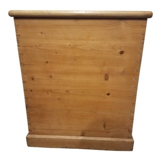 Antique Pine Wallpaper Box For Sale