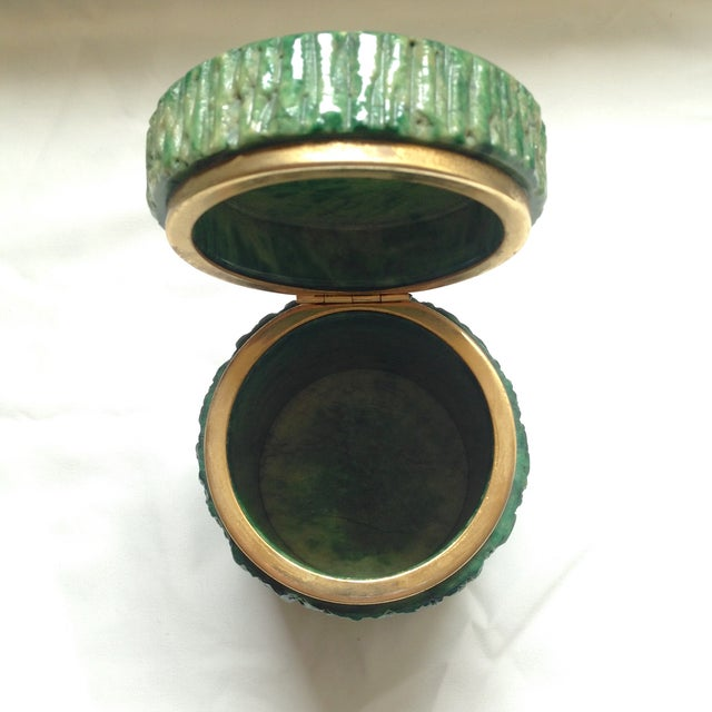 Italian Green Marble Box For Sale In San Francisco - Image 6 of 9