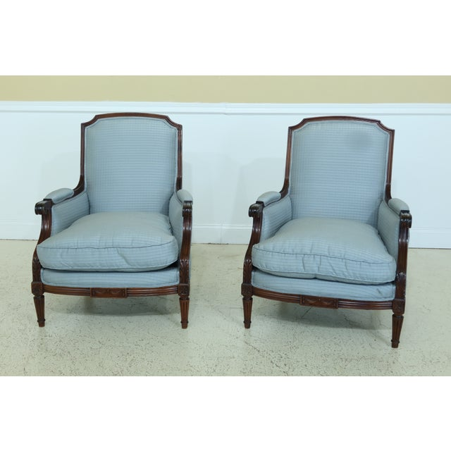 Louis XV French Style Bergere Chairs - a Pair For Sale - Image 13 of 13