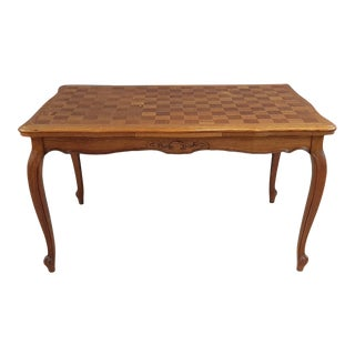 French Louis XV Extendable Oak Dining Table For Sale