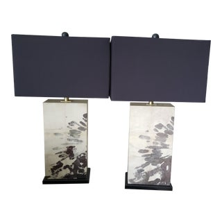 Currey & Company Splatter Table Lamps - a Pair For Sale