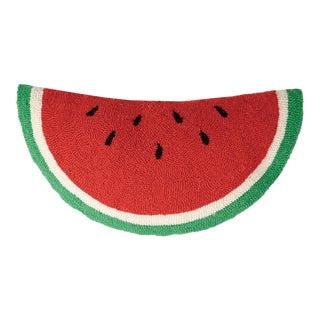 """Watermelon Shaped Hook Pillow, 12"""" x 24"""" + 3"""""""