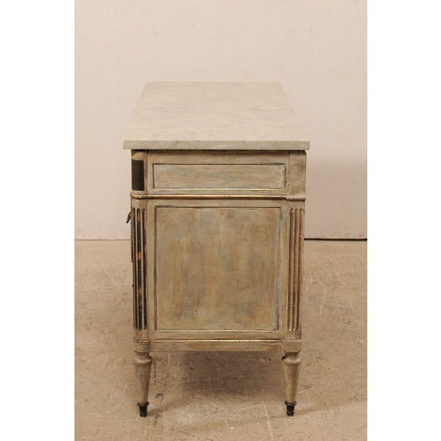 Mid 19th Century French Carved Wood Commode With Limestone Top For Sale - Image 11 of 12