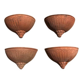 Terra Cotta Hanging Planters - Set of 4 For Sale
