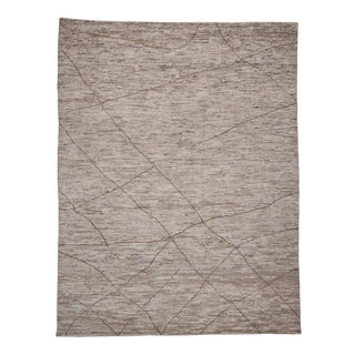 Contemporary Moroccan Area Rug with Modern Style in Warm Earth Tones