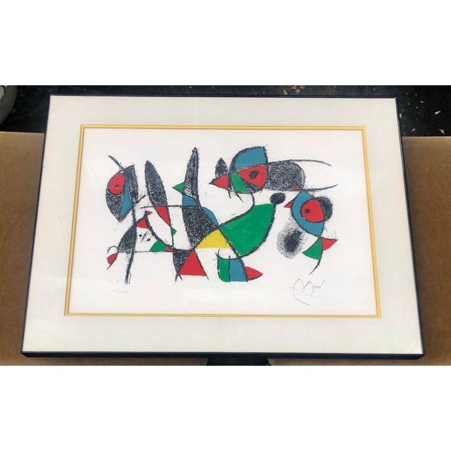 Joan Miró Mid-Century Modern Lithograph by Joan Miro C. 1975 Lithographs II - Plate 10 For Sale - Image 4 of 5
