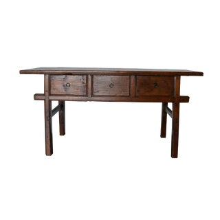 Vintage Rustic 3-Drawer Chinese Console