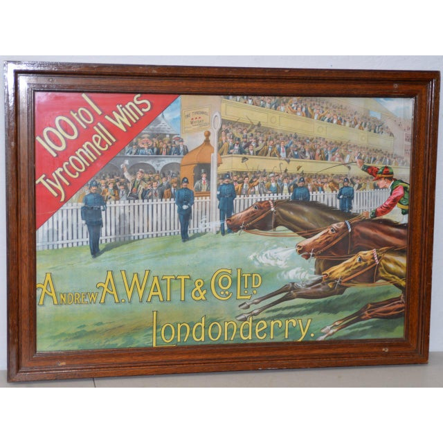 1001 to 1 Tyrconnell Wins! Victorian Whiskey Poster C.1900 For Sale - Image 12 of 12