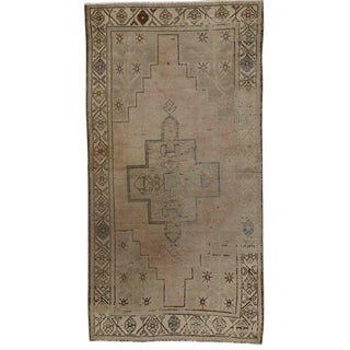 Modern Turkish Oushak Rug with Minimalist Style and Muted Colors