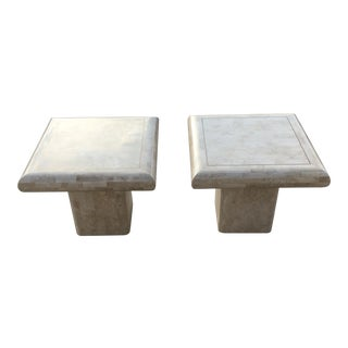Maitland-Smith Tessellated Stone Side Tables - a Pair For Sale