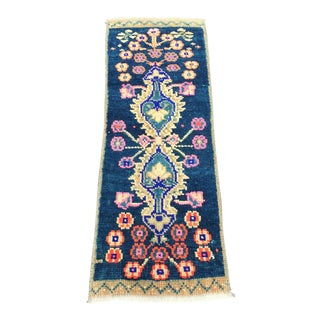 1960s Vintage Turkish Small Rug - 1′5″ × 3′5″ For Sale