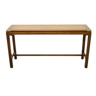"Knob Creek Banded Mahogany Asian Style 54"" Sofa Table For Sale"