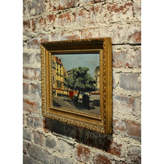s.g. Garrett -Place De La Contrescarpe ,Paris 1963 - Oil Painting For Sale In Los Angeles - Image 6 of 9