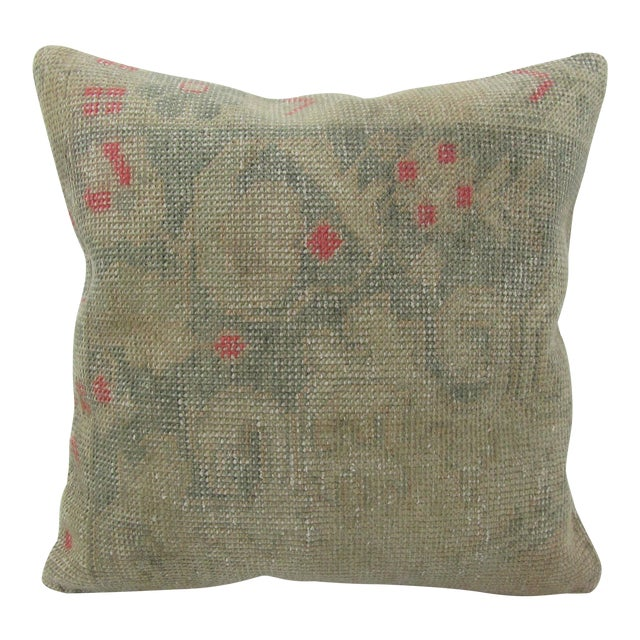 Vintage Turkish Faded Decorative Pillow For Sale