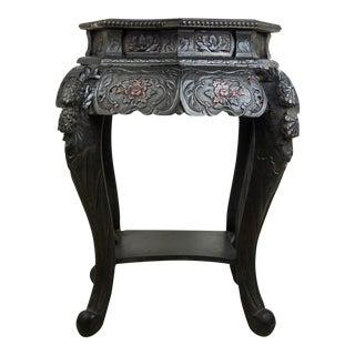 Antique Hand-Carved Chinese Side Table