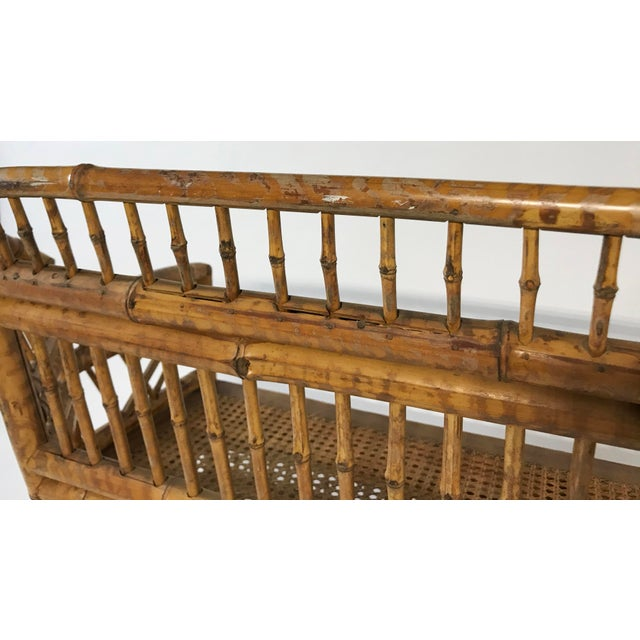 Brighton Pavillion Caned Settee For Sale - Image 9 of 11