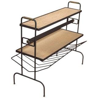 Jacques Adnet Magazine Rack Table/Shelf For Sale