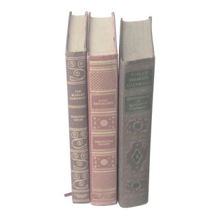 Classic Leather Gilt Books - Set of 3 For Sale